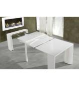 Tavolo Consolle Allungabile Bianco.Allungabile Salvaspazio Consolle Tavolo Bianco